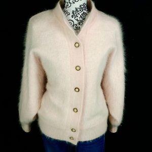 BELLDINI- Rabbit hair/ Lambswool Cardigan sweater